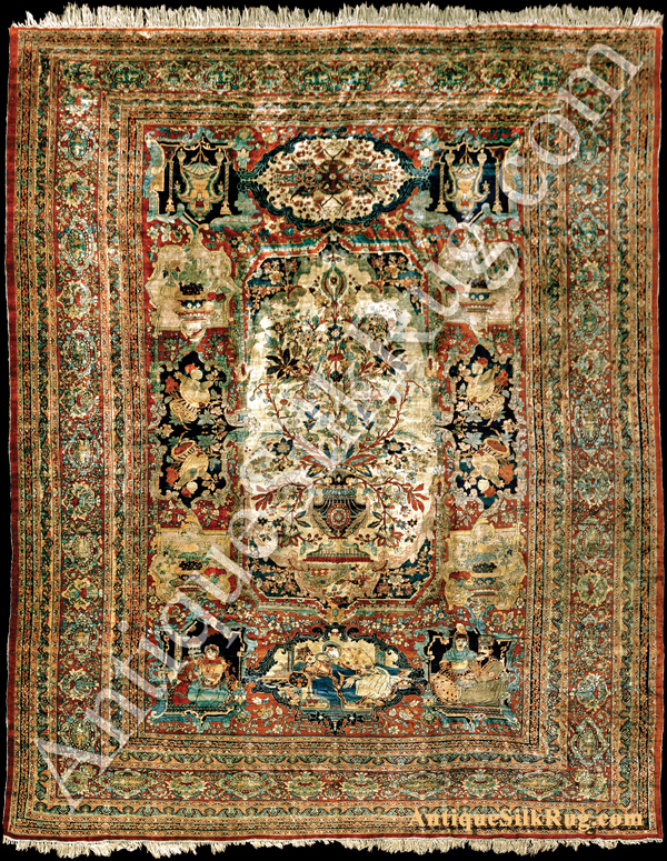 Antique Silk Rug